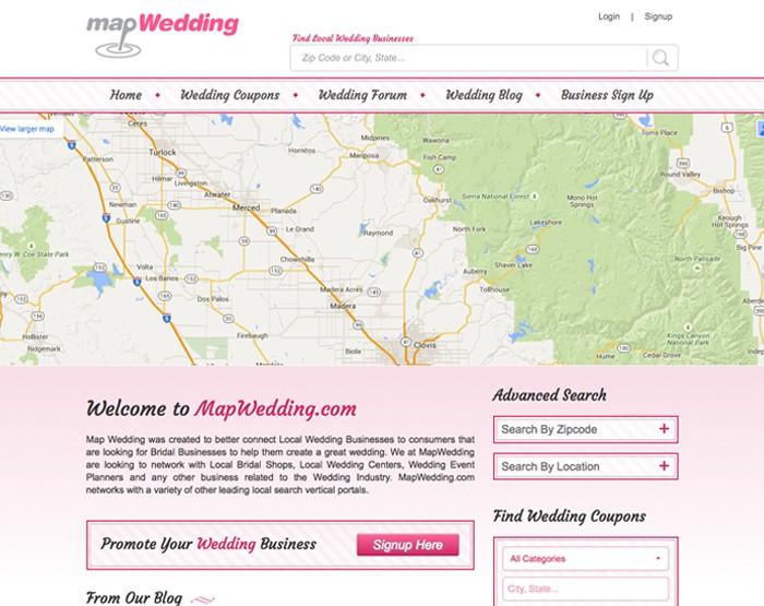 map wedding