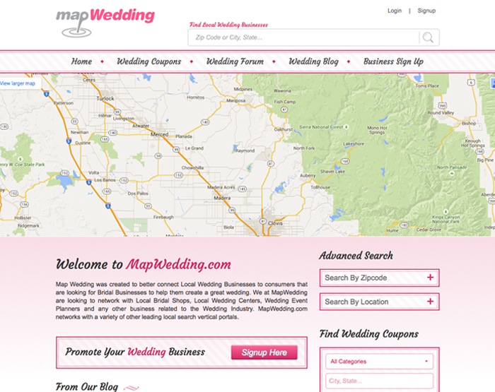 map wedding