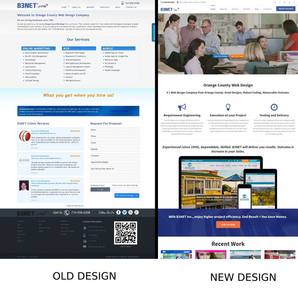 web design comparison