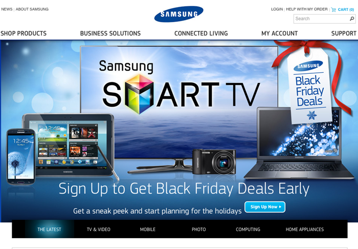 samsung website magento