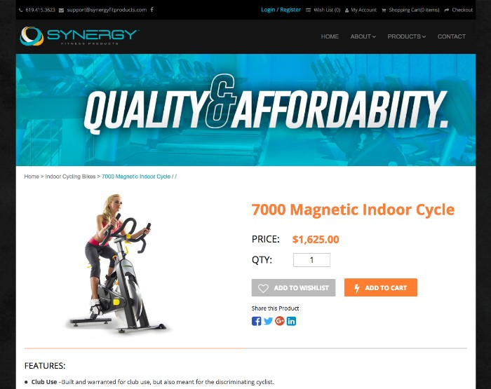 Synergy Fitness Products<br><small>(WordPress, WooCommerce)</small>