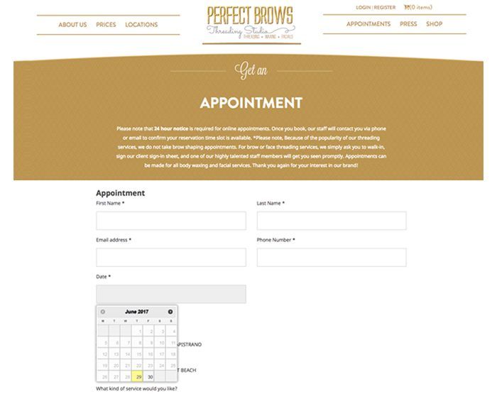 Perfect Brows<br><small>(WordPress, WooCommerce)</small>